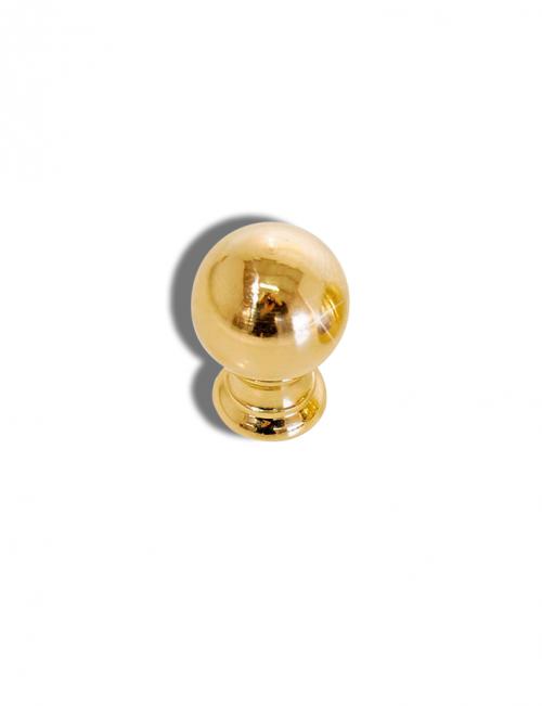 pomo ottone lucido diametro 30 mm