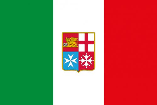 Bandiera Italia Marina Mercantile.