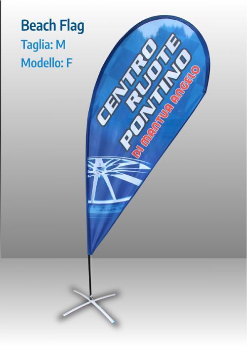 Bandiera a goccia kit taglia M, sagoma F.