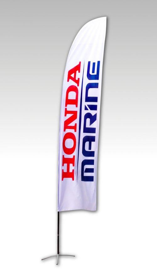 Bandiera a vela misura L, sagoma D.
