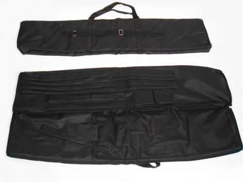 Borsone nero in tela per i kit bandiere a vela o a goccia.