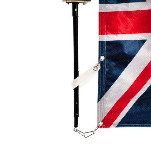 Detail of an adjustable vertical flagpole Hercules