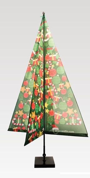 albero di natale personalizzato, resolfin, bandiere, pennoni, aste